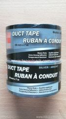 Cloth Duct Tape Black and Silver Heavy Duty 48mmx7M