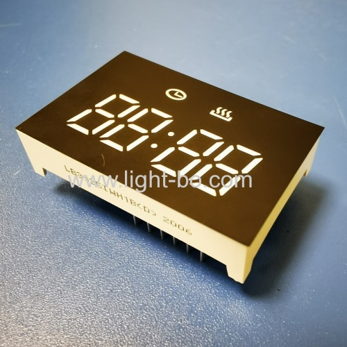 Custom design low cost ultra white 4 Digit LED Clock Display for oven timer control