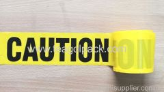 "Caution Tape Yellow Background with Black ""Caution"" Printing"
