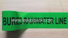 Underground Undetectable Caution Tape Black Printing with Green Background