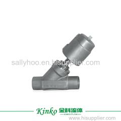 welding pneumatic angle seat valve