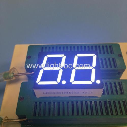 """ультра белый 2-значный 0,8 """"7-сегментный светодиодный дисплей для контроля температуры водонагревателя"""