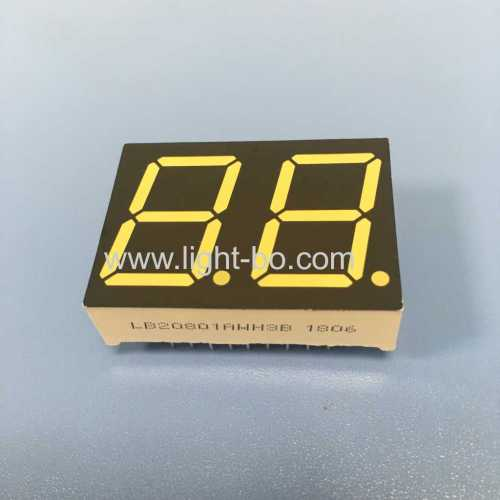 Ultra white 2 Digits 0.8  7 Segment LED Display for water heater temperrature control