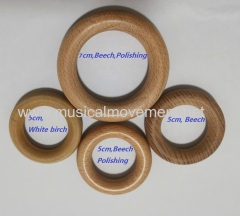 WOODEN RING HANDLE PULL STRING TOY PARTS