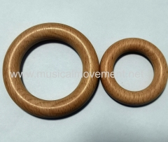 PULL STRING MUSICAL TOYS WOOD RING HANDLE