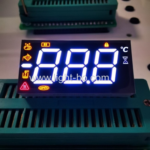 Customized multicolour 3 Digit 7 Segment LED Display common anode for Dishwasher Controller