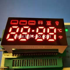 Ultra Red customized 4 Digit 7 Segment LED Display for mini oven timer control