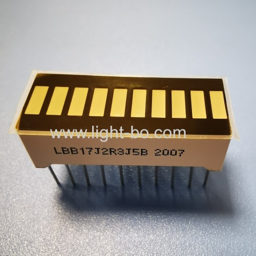 High brightness multicolour 10 segment led bar for instrument panel