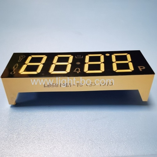Ultra bright Amber 4 Digit 7 Segment LED Display for Oven Timer Controller