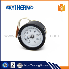 water temperature capillary thermometer plastic round remote reading thermometer