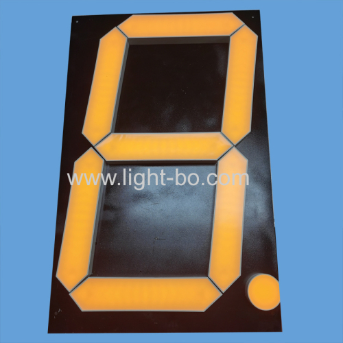 Ultra bright yellow 16inch Large Size 7 Segment LED Display for Digital Countdown Indicator