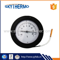 plastic capillary temperature gauge remote reading thermometer with top flange back connection