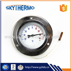 all stainless steel front flange capillary dial thermometer temperature