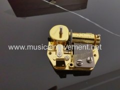 Custom Winding shaft and Connecting Shafts Deluxe18 Note Musical Box Mechanism