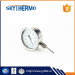 bottom connecting promotional outdoor bimetal pipe long stem thermometer