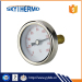 back connecting ss 304 hot water dial bimetal industrial usage thermometer