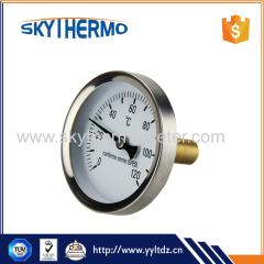 water testing high temperature temperature controller boiler bimetal thermometer