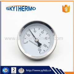 high low temperature gauge bimetal temperature gauge stainless steel water pipe thermometer