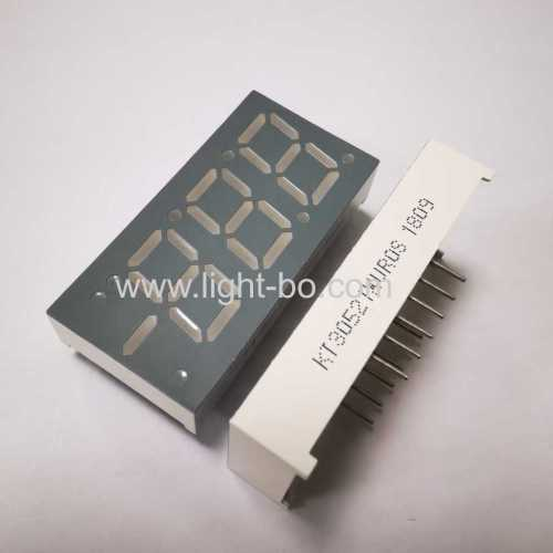 Customized Ultra bright red Triple digit 7 segment led display common anode for temperature control