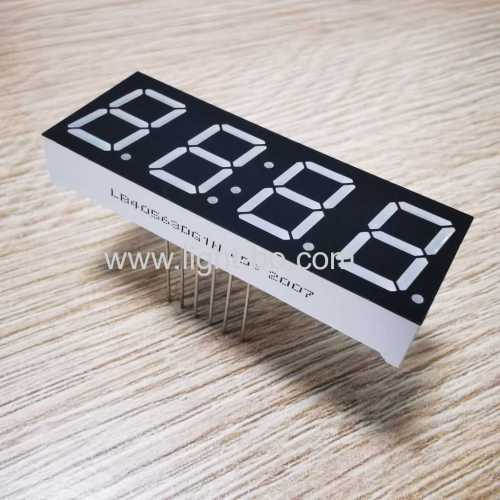 Pure Green 0.56inch 4 Digit 7 Segment LED Display common cathode for Instrument Panels