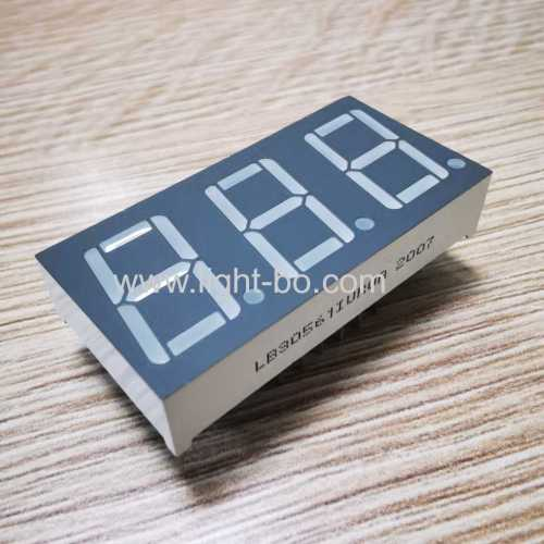 0.56 Triple Digit 7 Segment LED Display Common Anode Ultra bright Red For Temperature Control