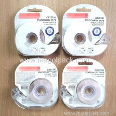 Stationery Tape Crystal Clear 19mmx33M with Dispenser