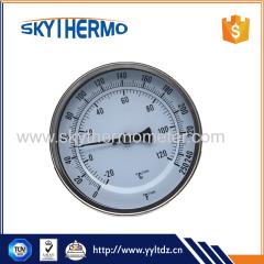 Full stainless steel Standard dial boiler bimetal thermometer