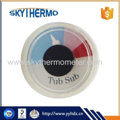 industrial bimetal hot water pressure thermometer bimetal pot use needle thermometer plastic type round thermometer