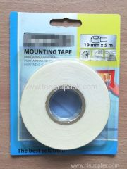 19mm Wx5m L Double Sided EVA Foam Mounting Tape ..Release Film: White+White Foam Tape