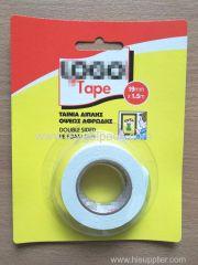 19mm Wx1.5m L Double Sided PE Foam Mounting Tape ..Release Film: White+White Foam Tape