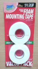 18mm Wx5m L 2PACK Double Sticky Foam Mounting Tape ..Release Film: White+White Foam Tape