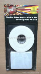 1.8cm Wx4m L Double Sided Foam Mounting Tape+Sticking Pads PK320 ..Release Film: White+White Foam Tape