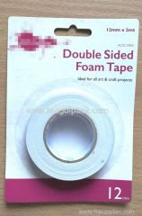 12mm Wx2m L Double Sided Adhesive Foam Tape ..Release Film: White+White Foam Tape