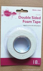 18mm Wx2m L Double Sided Adhesive Foam Tape ..Release Film: White+White Foam Tape