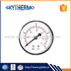Plastic back type dial manometer differential Bourdon Tube Pressure Gauge Manometer