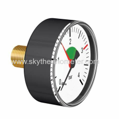 Back plastic pressure gauge with red pointer Bourdon Tubes Air Pressure Gauge 0-10 Bar Manometer