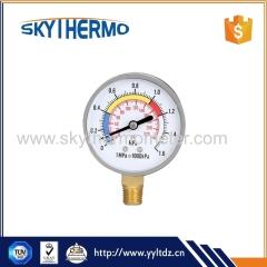 quality assurance black steel or plastic medical dry pressure manometer