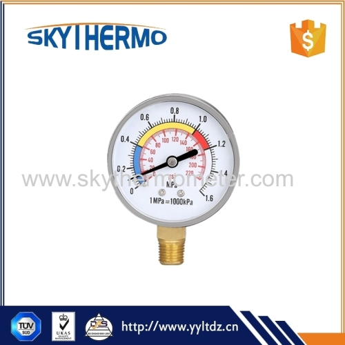 quality assurance black steel or plastic medical dry pressure manometer