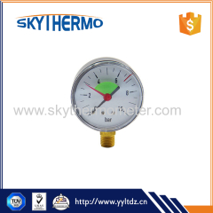 radial abs case manometer pressure gauge with lower mount connection