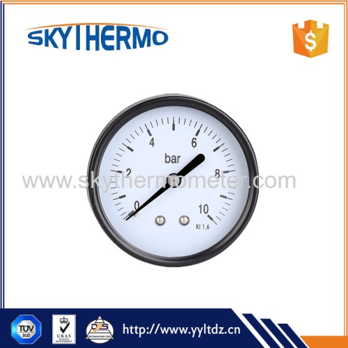 iron case high pressure manometer back connection differential dial size pressure manometer