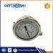 All stainless steel Standard oil Liquid Filled SS Bourdon Tube Pressure Gauge Manometer bottom connection Vacuum Gauge