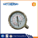 Easy To Read Clear Personalized Design Reliable Performance Ss Pressure Gauge Manometer Oil Filled Meter