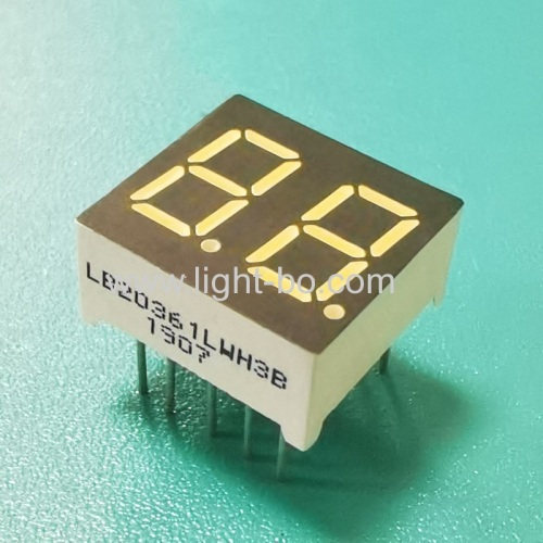 Ultra white Dual digit 0.36inch 7 Segment LED Display common cathode for home appliances