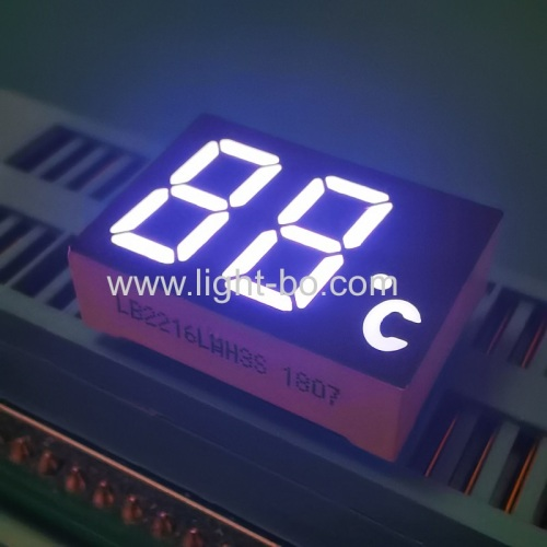 Ulrta white 12mm Dual digit 7 segment led display common cathode for temperature indicator