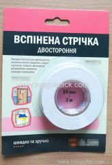 24mm Wx2m L Double Sided Adhesive Foam Tape ..Release Film: White+White Foam Tape