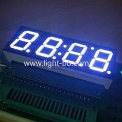 white clock display; 0.56