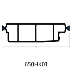 65mm PA66GF25 Hollow Chamber Thermal Break Polyamide Insulating Profiles