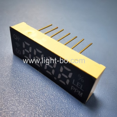Ultra thin Small size Ultra Red 6.2mm 4 Digit 7 Segment LED Display common cathode for Fire System
