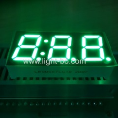 pure green display;green clock display;3 digit green display;pure green 7 segment