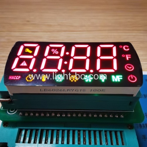 Multicolour 4 Digit 17mm 7 Segment LED Display common cathode for Refrigerator Control Panel